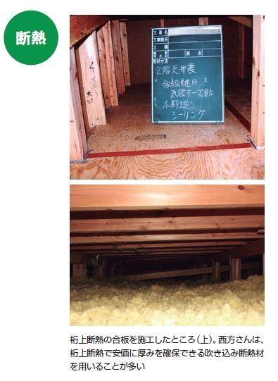 桁上断熱で施工中の現場(写真:西方設計)